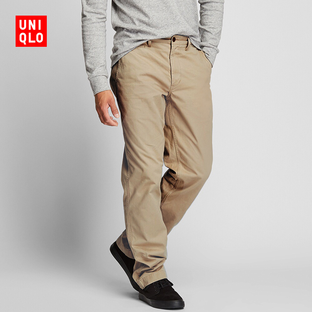 Men's Washing Old Pleatless Trousers 418917 Uniqlo