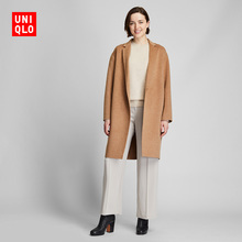 Women's double faced silk cocoon overcoat 420228 UNIQLO