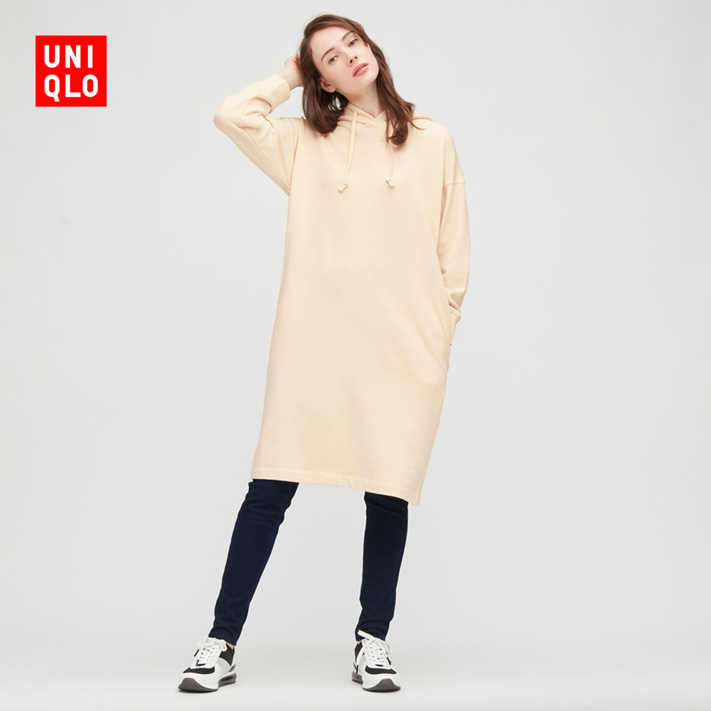Uniqlo women's sports hooded dress (long sleeve sweater) 432248 UNIQLO