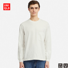 Designer cooperation men's clothing Round neck T-shirt (long sleeve) 415508 Uniqlo UNIQLO
