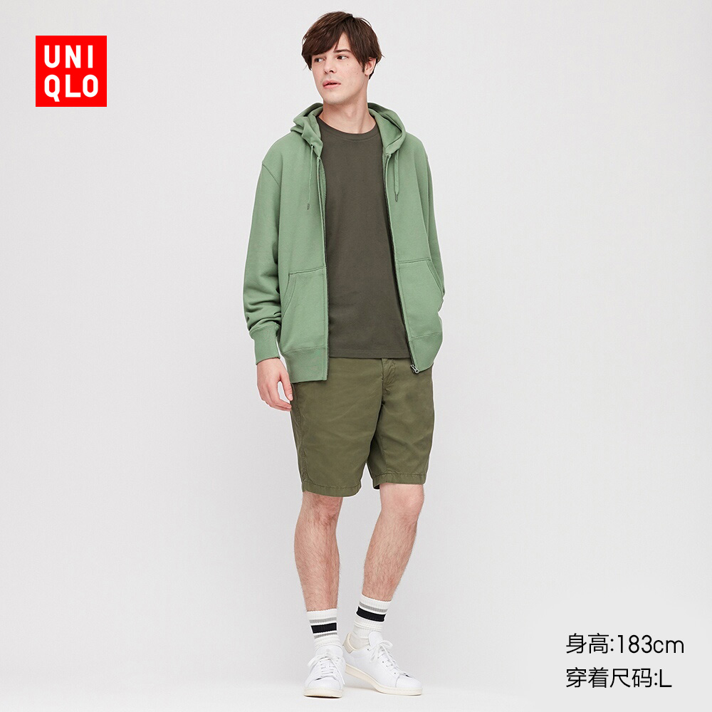 Men's Hooded zip sports cardigan (long sleeve) (sweater) 419503 UNIQLO