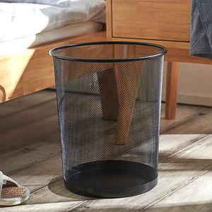 垃圾桶家用大容量办公室用卧室客厅卫生间创意无盖金属铁网卫生桶