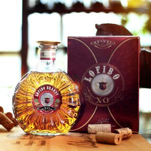 XO白兰地酒40度洋酒婚宴烈葡萄蒸馏酒礼盒装brandy酒500ml*1瓶