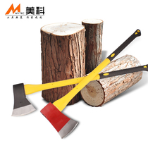 Large household wood chopping axe outdoor Kaishan axe chop Chishing kettle head forging logging woodworking axe knife