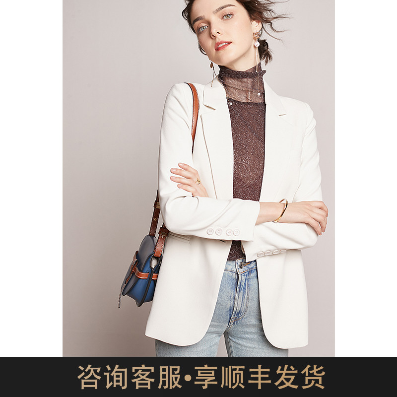 Exquisite version is your preference! High texture white casual suit coat women's spring and autumn suit women