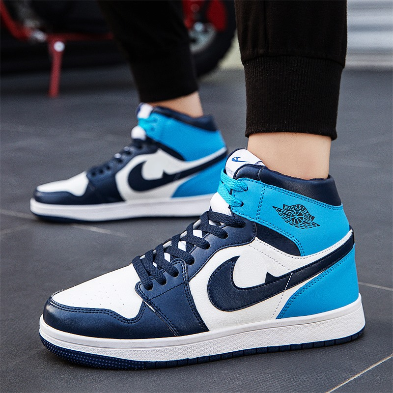 Winter aj1 mens shoes Obsidian air force No.1 mens high top board shoes basketball sports shoes trend versatile mens fashion shoes