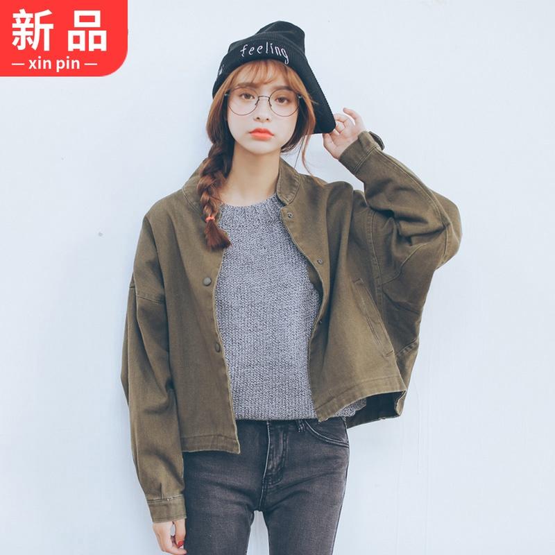 2018春装新款女装棒球服外套女原宿风宽松韩版学生BF短款夹克
