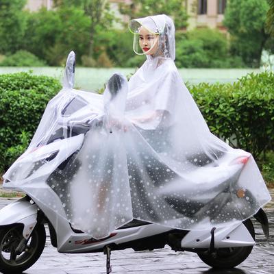 骑行透明男自行车电动车雨披摩托雨衣女成人长款全身加大加厚单人