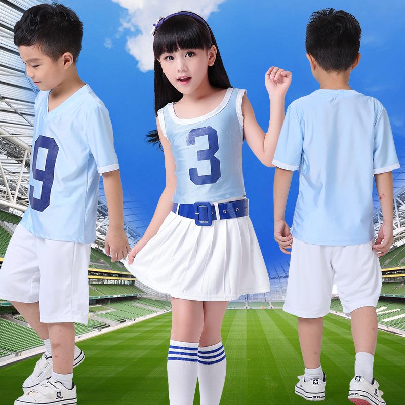 啦啦队服少女时代打歌服足球宝贝拉拉队服啦啦操服装表演演出服装