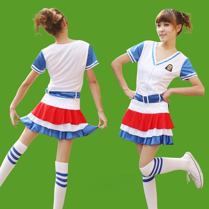 少女时代演出服拉拉队服足球宝贝啦啦操服装演出服啦啦队服