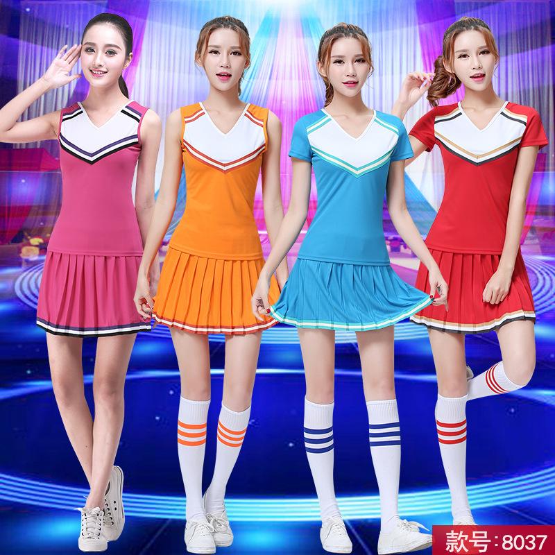 啦啦操服装 啦啦队服啦啦操表演服足球宝贝套装拉拉服健美操服装