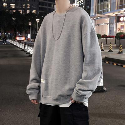 2020 春男装 贴标装饰 宽松套头圆领卫衣 H19105/P68(不低于88)