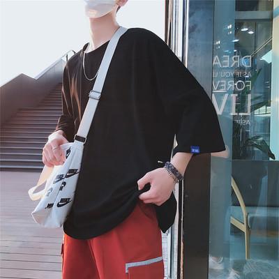 2018夏装全棉 宽松大版 纯色短袖T恤 T2010/P38(不低于55)