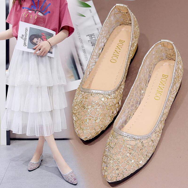 2021春夏季新款单鞋女鞋低帮鞋韩版时尚甜美甜美女性职业工作鞋