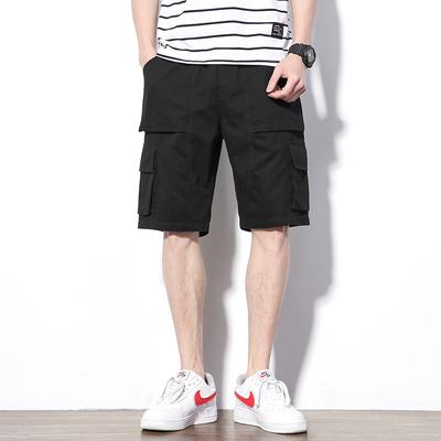 2019 夏季新款 大码日系白墙水洗立体袋工装短裤M-5X HK161-P45