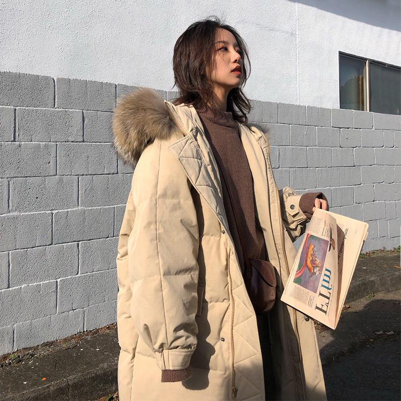 羽绒棉服女冬中长款棉袄2019新款棉衣韩版宽松学生面包服加厚外套