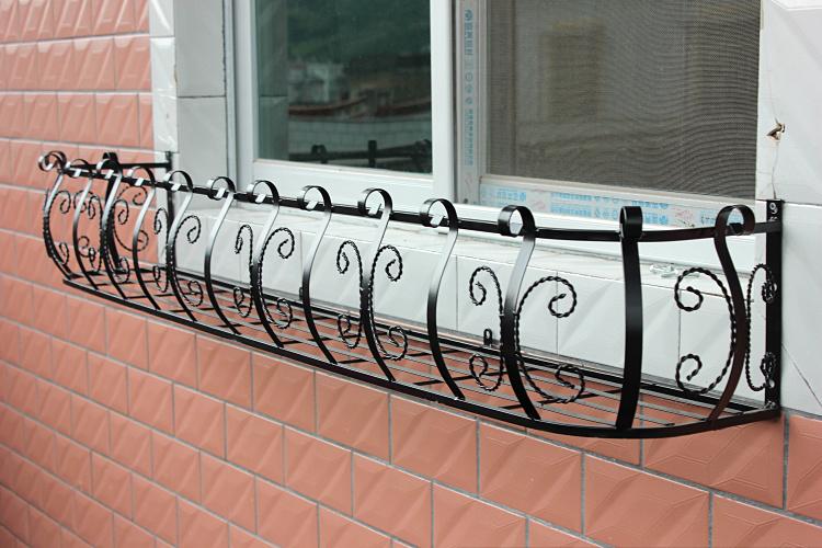 铁艺窗台栏杆悬挂式户外壁挂置物架