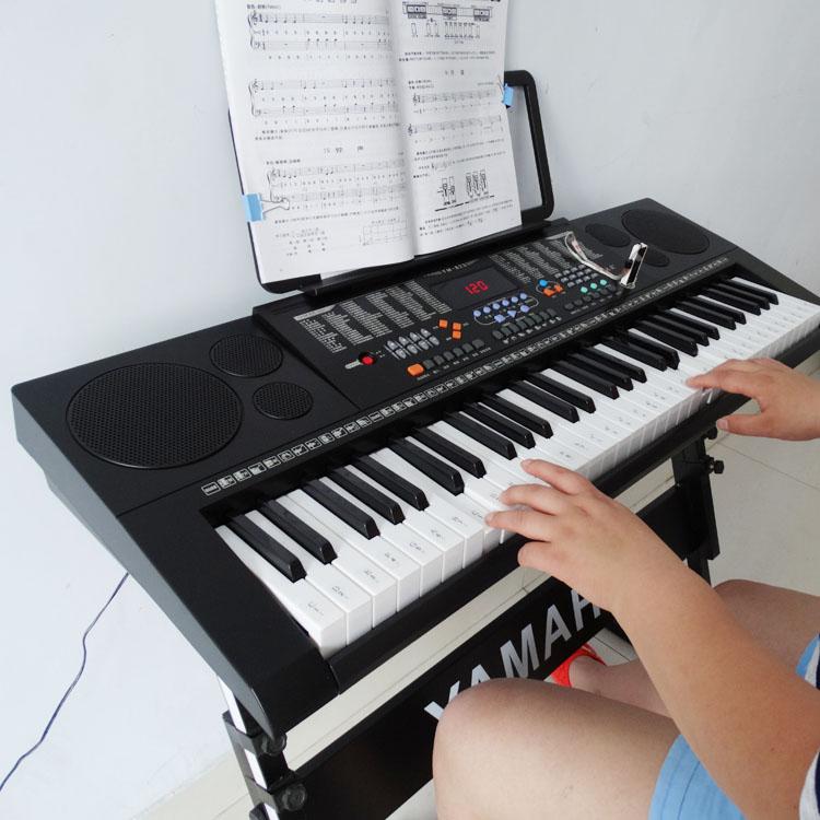 正品永美823电子琴61键成人儿童初学者智能APP发光跟弹话筒送礼包