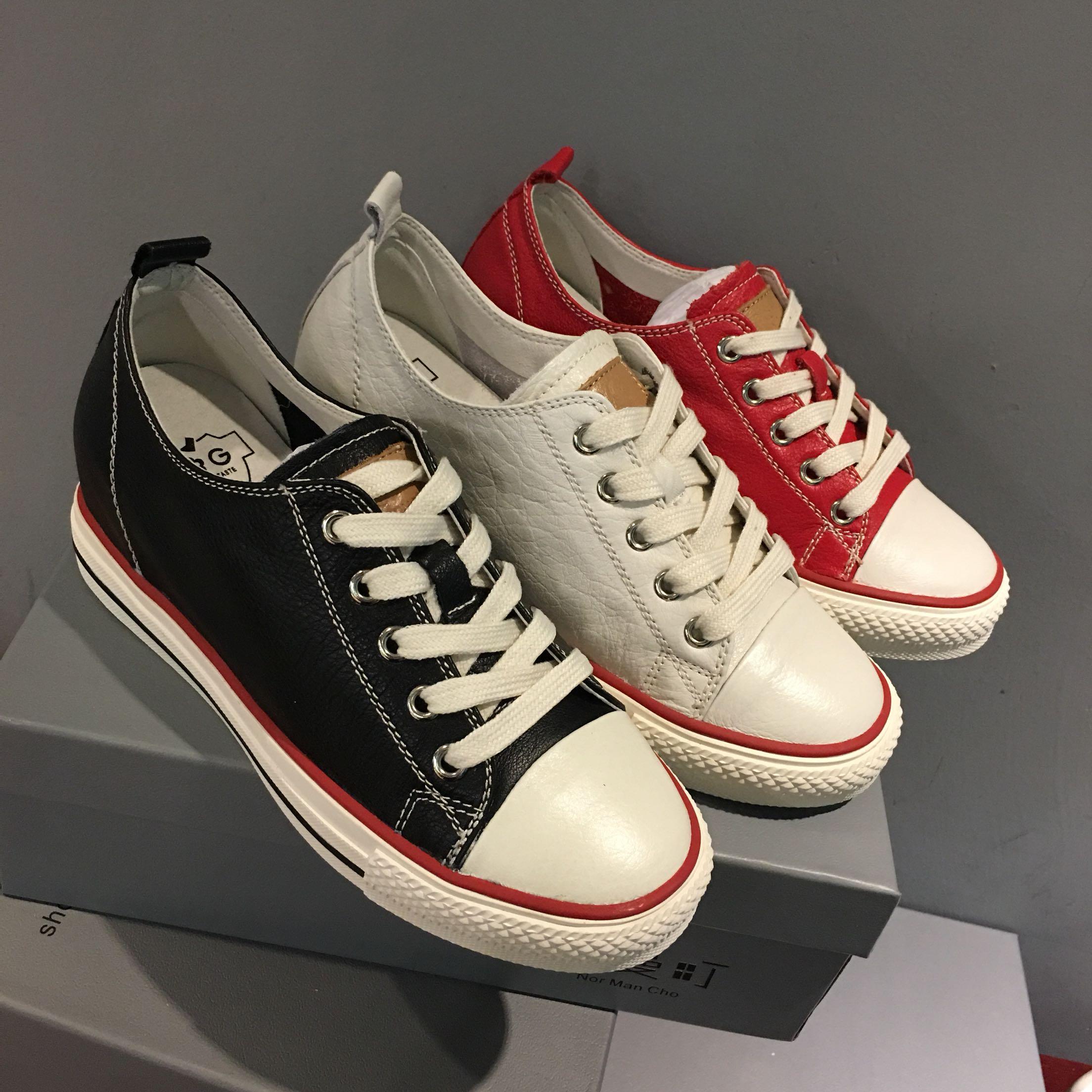 IG女鞋5068-1尾货清仓处理圆头系带内增高坡跟女鞋休闲鞋板鞋单鞋