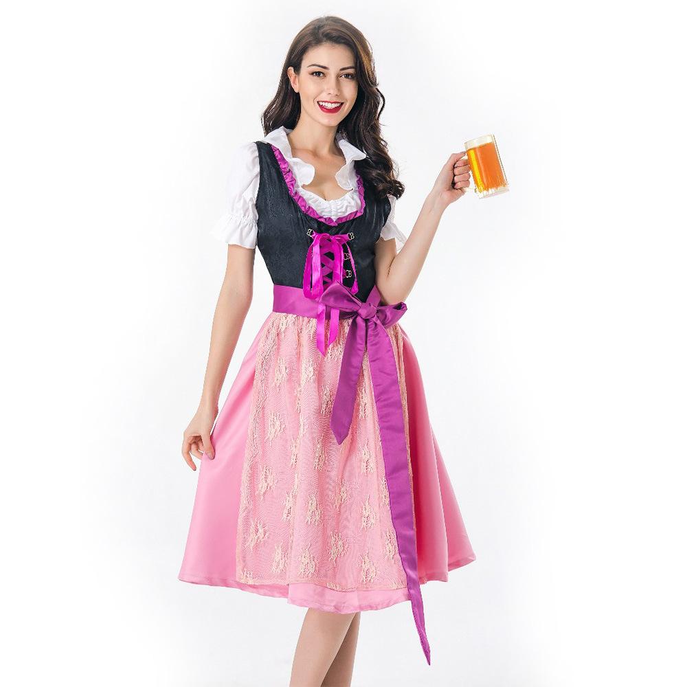 New Halloween Cosplay beer Maid Dress role play barmaid dress German Carnival dress