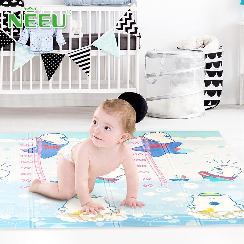 neeu家用地垫婴儿防摔爬爬垫环保无味宝宝卡通爬行垫XPE折叠地垫