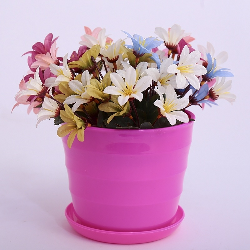 Flower special hole family durable family creativity multi inner flowerpot thread simple roof Korean garden round