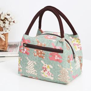 布包女帆布小包包牛津布防水便当包手提多拉链女包新款妈妈买菜包