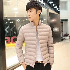 青年立领修身韩版棉衣 潮款简约立领夹克式棉服1815p130