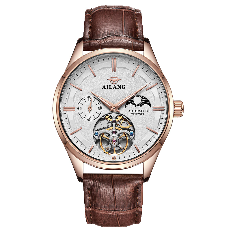 Swiss watch mens real Tourbillon mechanical watch fully automatic ultra-thin hollow 2019 new mens concept mens Watch