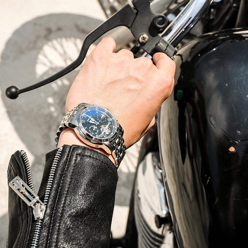 スイス2020新型腕時計男性全自動機械表黒科学技術の透かし彫りブランドの潮流男子時計