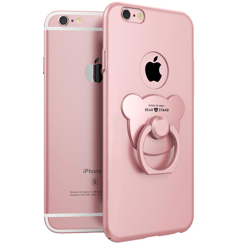 iphone6plus手機殼蘋果6plus簡約6s 奢華I6防摔p支架指環sp女
