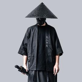夏季新款暗黑国潮忍者风衣男宽松嘻哈潮牌薄款道袍潮流机能风上衣
