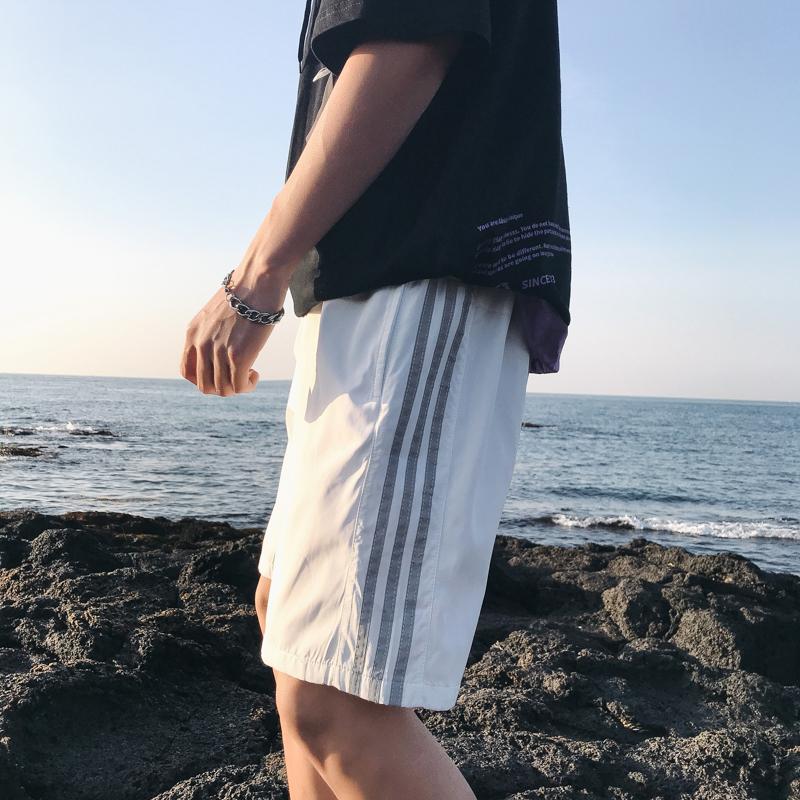 港風休閑五分褲男士寬松短褲男韓版潮流夏季外穿運動百搭ins褲子