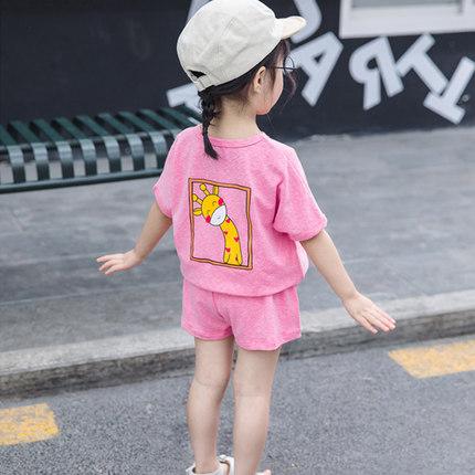 女童夏季套装2019年新款短袖纯棉女