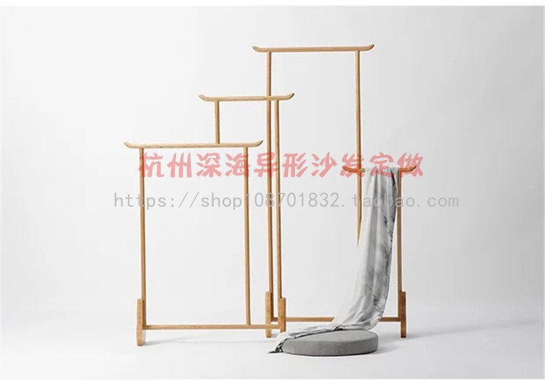 Mingsu hotel guest room new Chinese solid wood floor coat hanger coat hanger bedroom coat hanger simple antique furniture