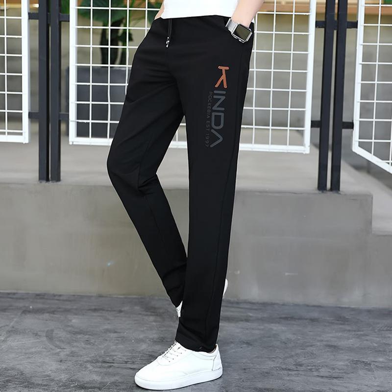 初中高中学生青少年休闲裤子夏季薄款潮流运动裤帅气大童男孩长裤