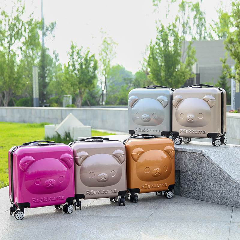 The new children luggage pull rod box cute cartoon bear