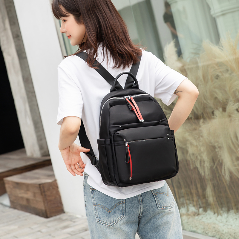 New fashion backpack 2020 womens computer backpack campus schoolbag Korean Chinese style nylon cloth Oxford spinning