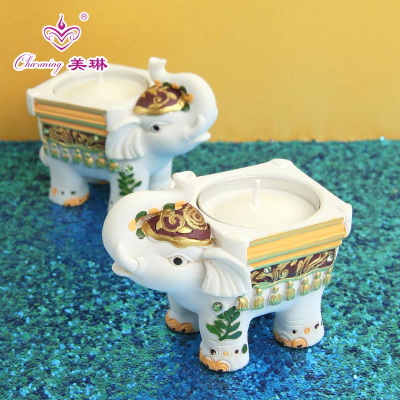 Творческий слон лев подсвечник tea свеча тайвань мультфильм про животных чай свеча тайвань кофе дом магазин газ атмосфера декоративный