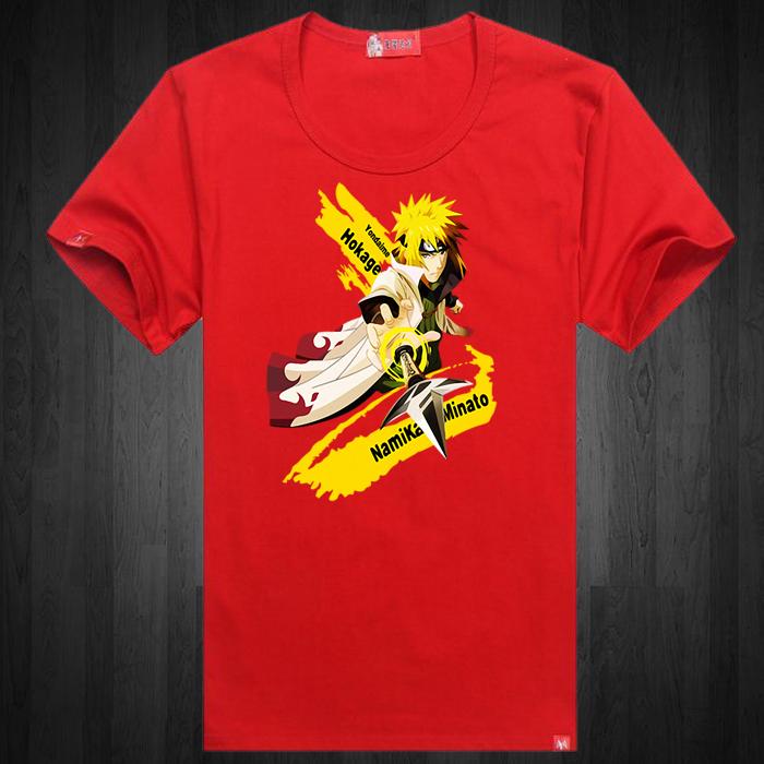 火影忍者四代目波风水门短袖T恤文化衫衣服流行潮流学生青少年