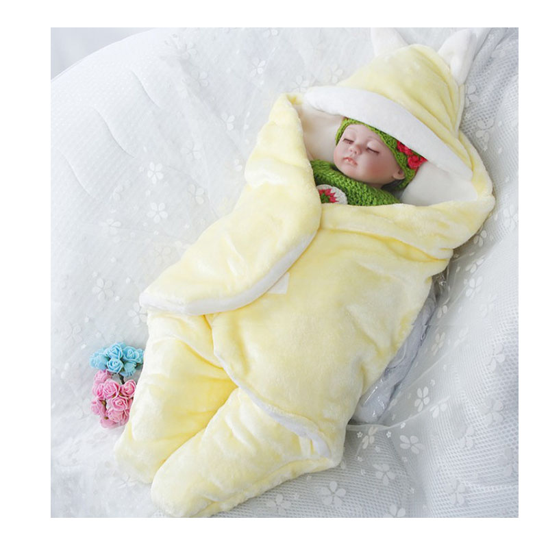 Baby fall and winter kick proof quilt thickened split leg sleeping bag newborn bandage anti startle swaddling towel multifunctional quilt