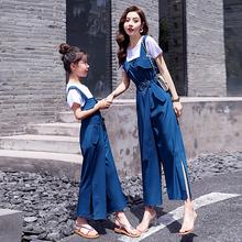 抖音亲子装连体裤短袖套装2020夏季新款潮母女装洋气时尚网红夏装