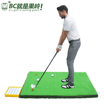 Golf Strike Pad 1*1.2m Double-sided swing practice device B.c.golf send ball box ball Tee