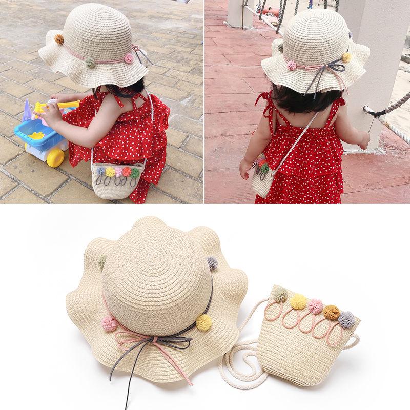 女童春秋季公主沙滩帽太阳帽子