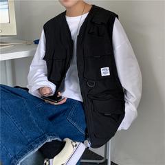 战术马甲男女ins潮流多口袋外搭黑色工装外套机能背心-HB11-p38