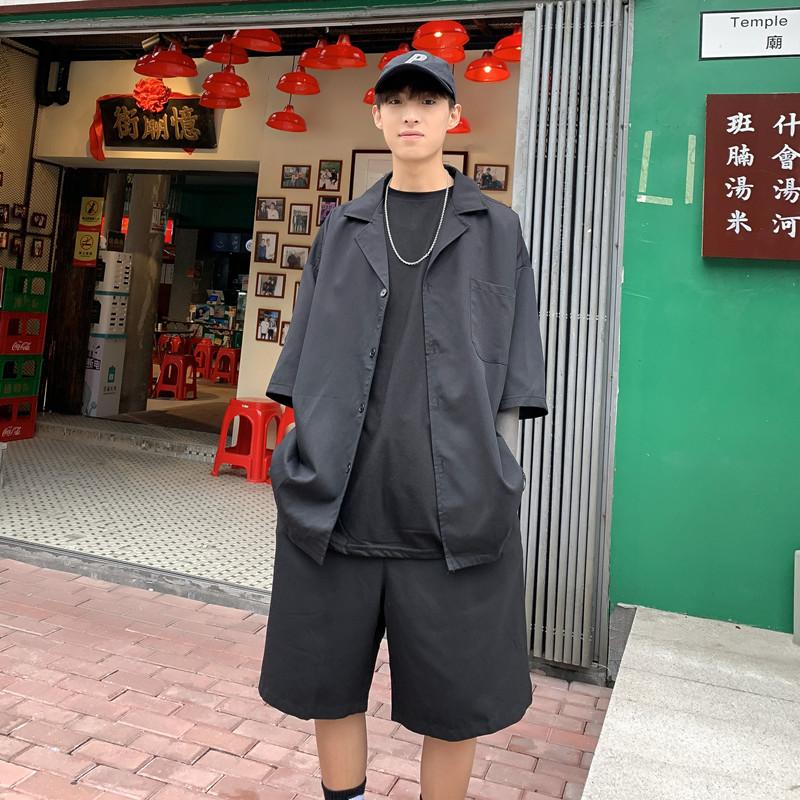 休闲小西装男套装夏季七分袖外套轻薄款短袖西服-KT8049-p50