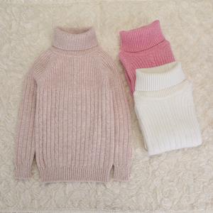 秋冬装新款儿童装宝宝毛线针织衫女童羊绒打底衫高领套头毛衣