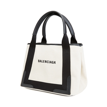 Balenciaga Balenciaga small women's Bag Navy cabas hand-held Shoulder Bag Canvas satchel mother bag