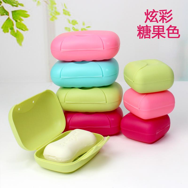 韩国创意旅行香皂盒塑料锁扣带盖沥水肥皂盒浴室密封皂盒迷你便携