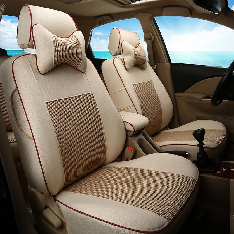 專車 五座新汽車座套定做布藝坐套 全包座椅套冰絲坐墊四季